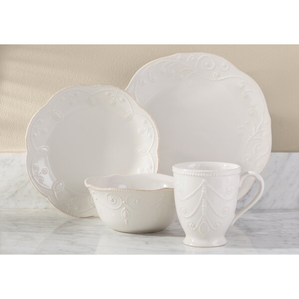 French Perle 4 Piece Place Setting, Service for 1