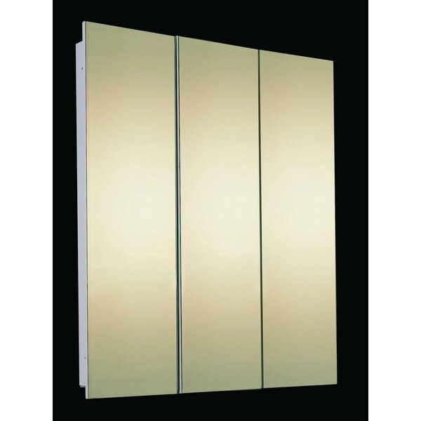 Bradyn 60 x 36 Recessed Frameless Medicine Cabinet with 4 Shelves by Orren Ellis