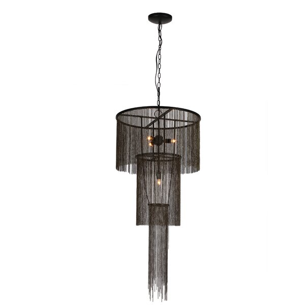 Witherspoon 4 - Light Unique / Statement Tiered Chandelier by House of Hampton House of Hampton