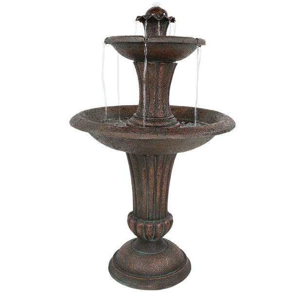 Fiberglass Corinthian 2-Tier Waves Water Fountain by Wildon Home ®