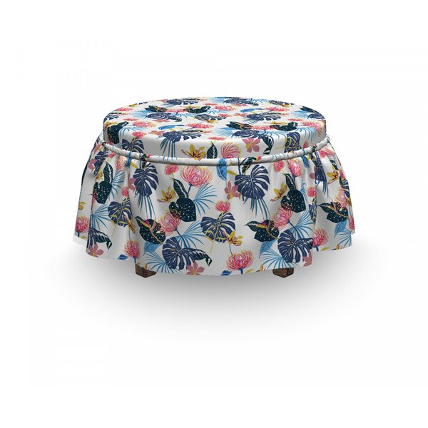 Exotic Forest Growth Petal Ottoman Slipcover (Set Of 2) By East Urban Home