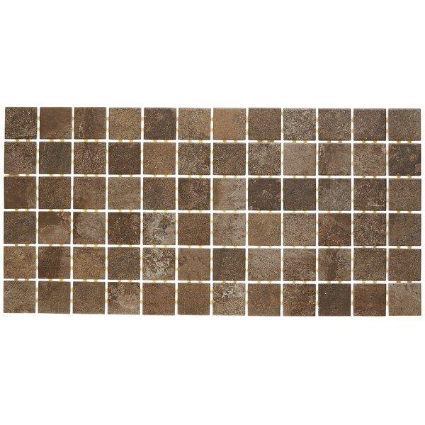 Slate Attaché 12 x 24 Porcelain Mosaic Tile in Multi Brown by Daltile