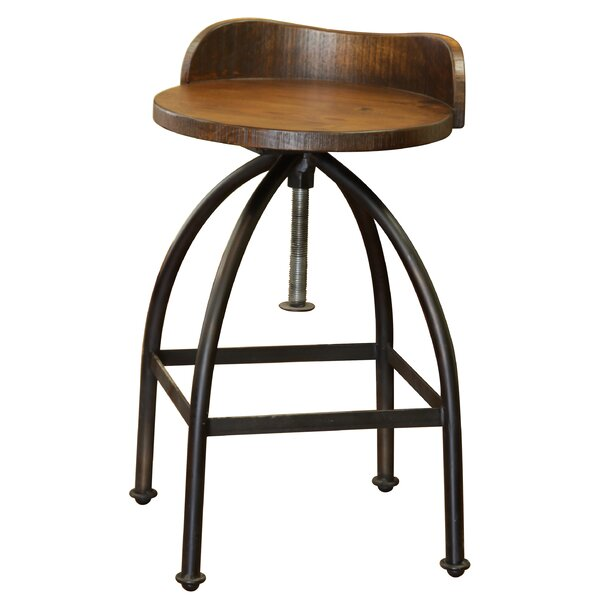 Bergeronnes Adjustable Swivel Bar Stool by Gracie Oaks