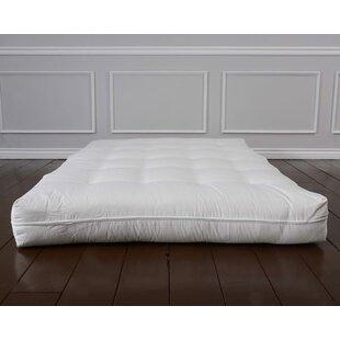 Geno Luxury Natural Wool 8 Foam Core Futon Mattress ByAlwyn Home