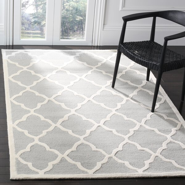Charlenne Hand-Tufted Light Gray/Ivory Area Rug by Zipcode Design