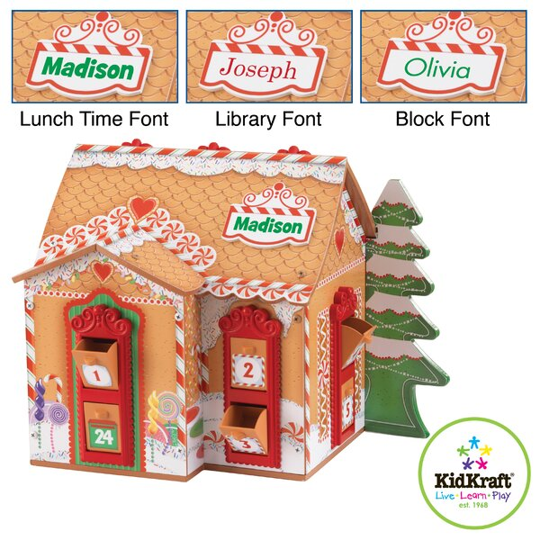 Personalized Wooden Advent Calendar by KidKraft