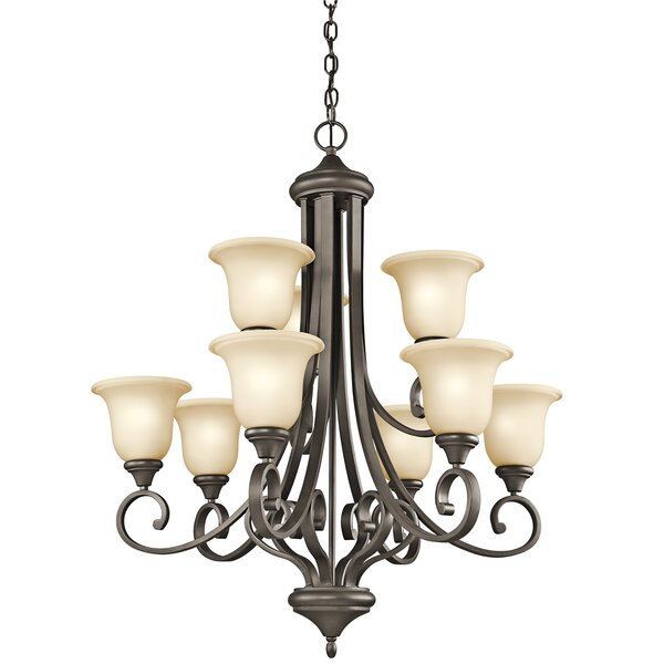 Bretton 9-Light Shaded Tiered Chandelier by Red Barrel Studio Red Barrel Studio