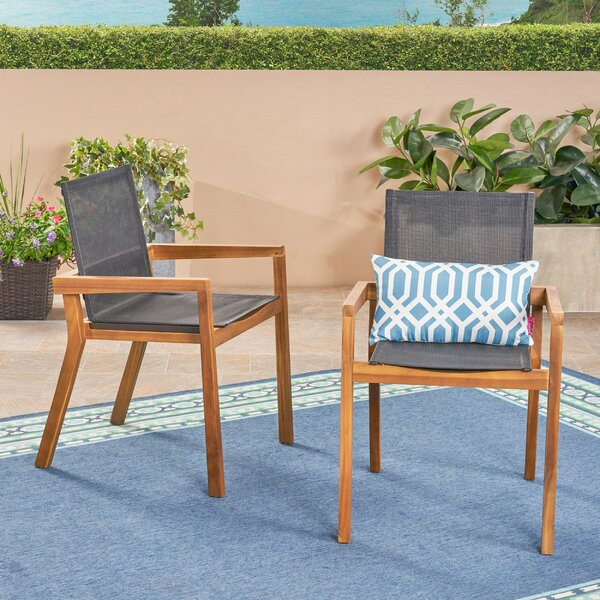 Acanthe Patio Dining Chair (Set of 2) by Union Rustic
