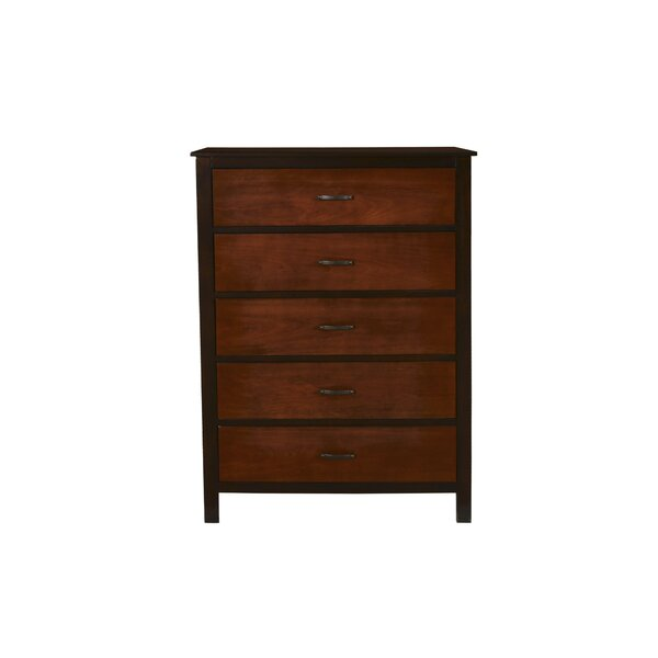 Bynum 5 Drawer Chest by Millwood Pines