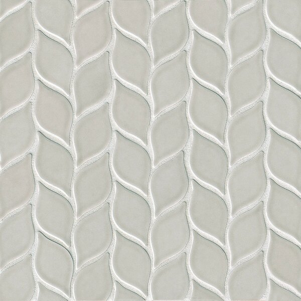 Park Place Foliole Ceramic Mosaic Tile in Gray by Grayson Martin