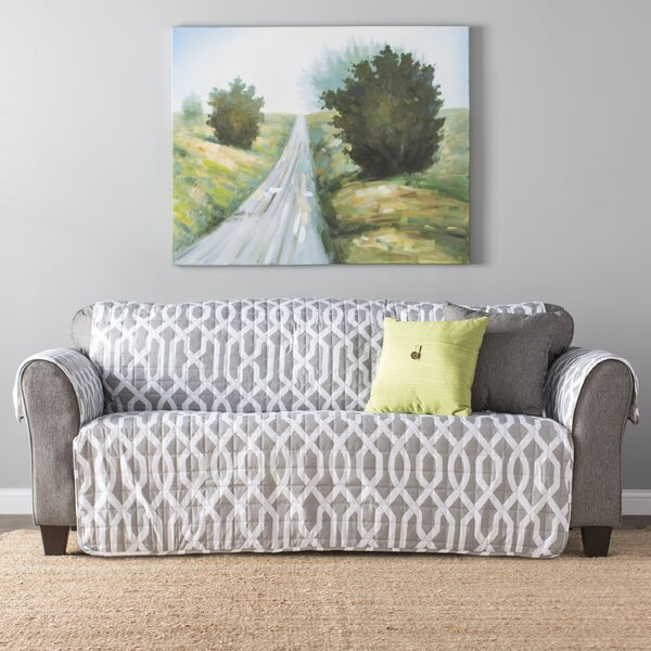 Caledonia Box Cushion Sofa Slipcover by Alcott Hill
