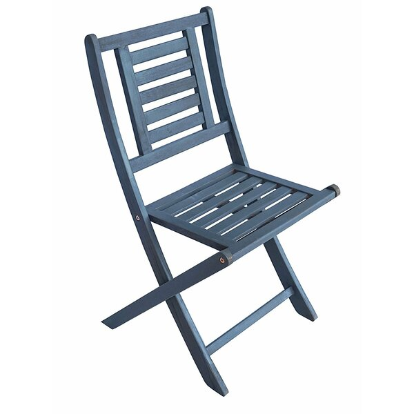 Eucalyptus Foldable Bistro Patio Dining Chair by Zen Garden