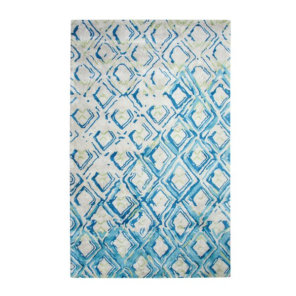 Vogue Hand-Woven Gray/Turquoise Area Rug by Dynamic Rugs