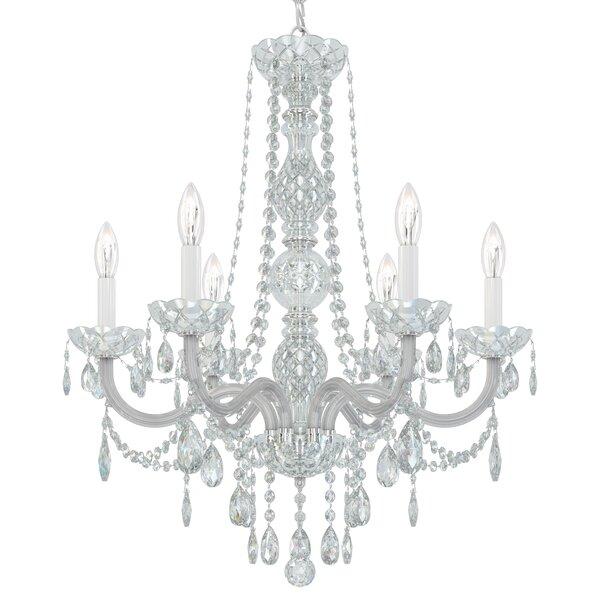 Arlington 6 - Light Candle Style Empire Chandelier by Schonbek Schonbek