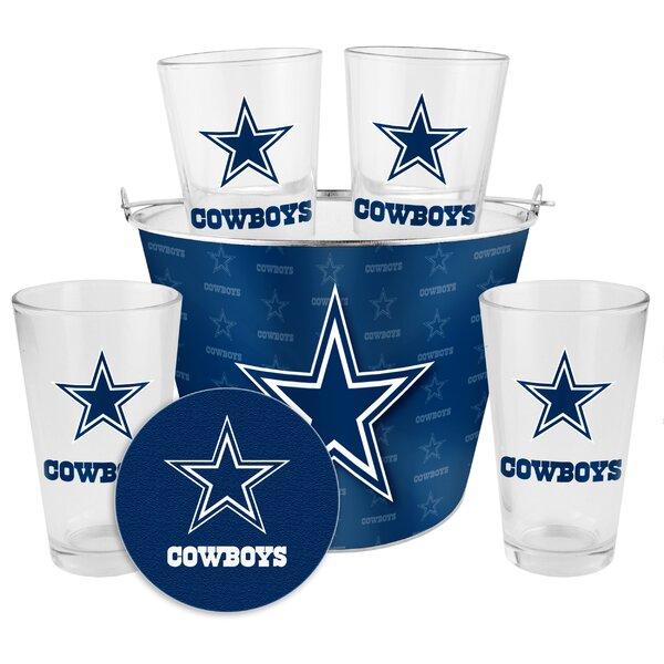 NFL 9 Piece Gift Bucket Set by Boelter Brands