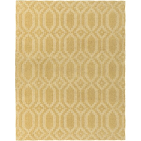 Brack Hand-Loomed Yellow Area Rug by Wrought Studio