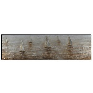 'Sailing Boats' Graphic Art by Woodland Imports
