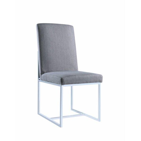 Deimel Floating Upholstered Dining Chair (Set of 2) by Orren Ellis