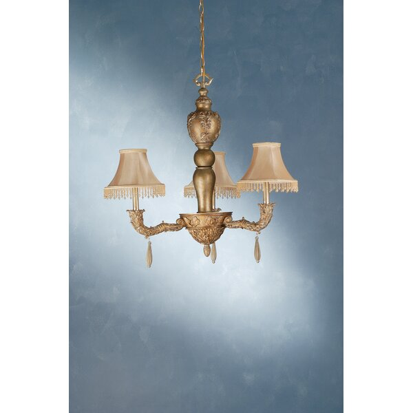 Monticello 3-Light Shaded Classic / Traditional Chandelier By Meyda Tiffany