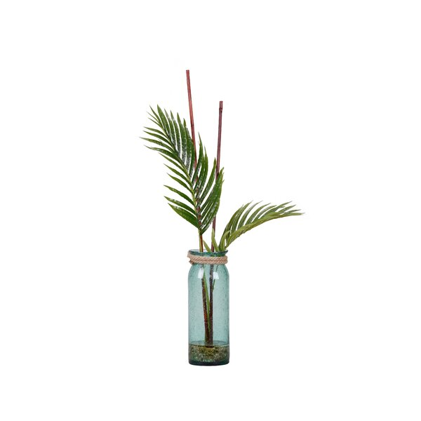 Cycas Fronds Palm Plant in Decorative Vase by Bay Isle Home