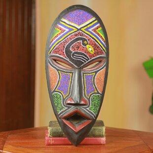 wooden african mask wayfair