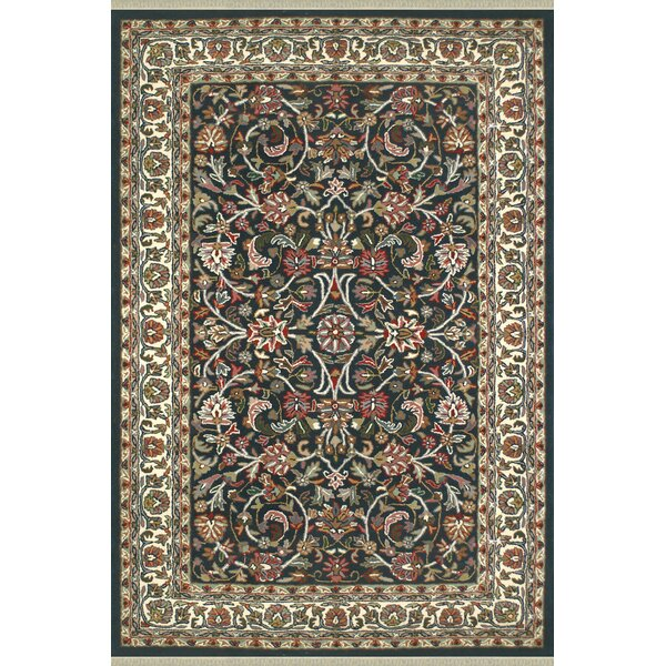 American Home Classic Kashan Navy/Ivory Area Rug by American Home Rug Co.