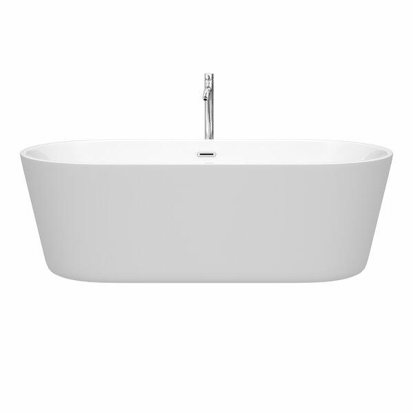Carissa 71 x 32 Freestanding Soaking Bathtub by Wyndham Collection