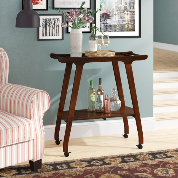 Wood Bar Cart by Langley Street