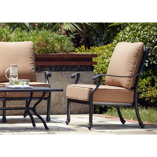 Waconia Patio Chair with Cushions (Set of 4) by Darby Home Co