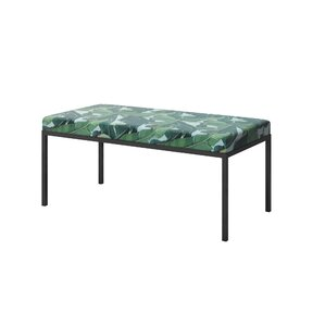Ahumada Green Marble Upholstered Bench by Everly Quinn