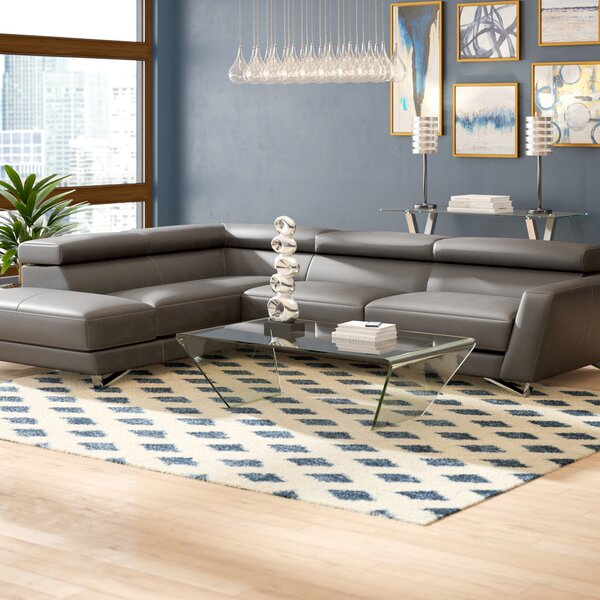 Downingtown Leather Sectional by Wade Logan