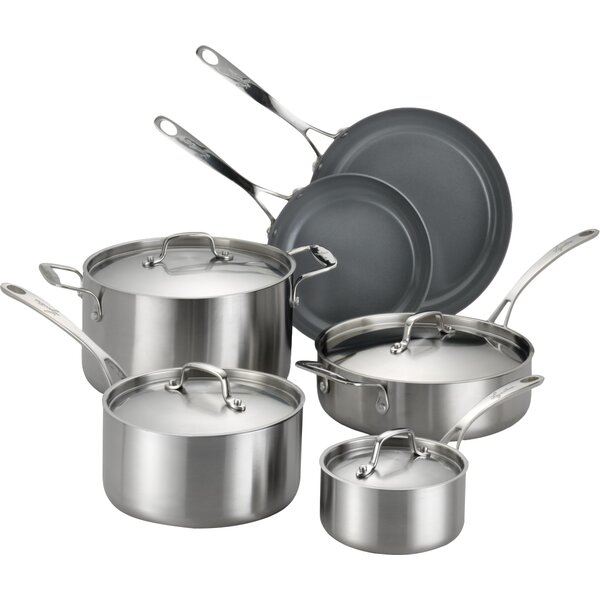 Axia 10 Piece Stainless Steel Cookware Set by Lagostina