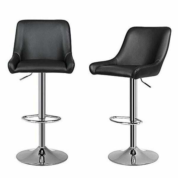 Gerow Adjustable Height Swivel Bar Stool (Set of 2) by Orren Ellis
