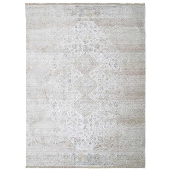 Chauncy Crossweave Gray/Cream Area Rug by Ophelia & Co.