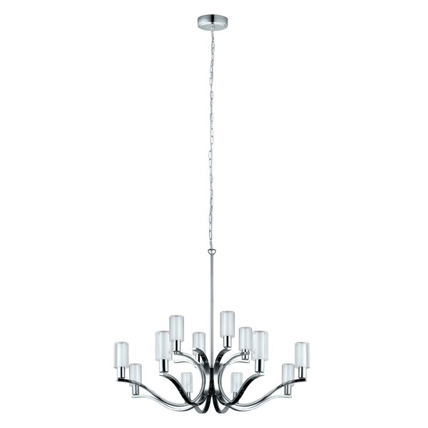 Lindsy 12-Light Shaded Chandelier by Latitude Run