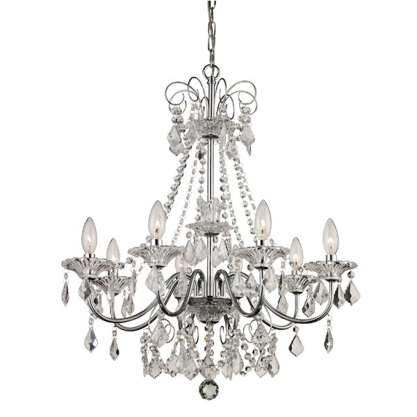 House of hampton jeter 8 light crystal chandelier reviews wayfair