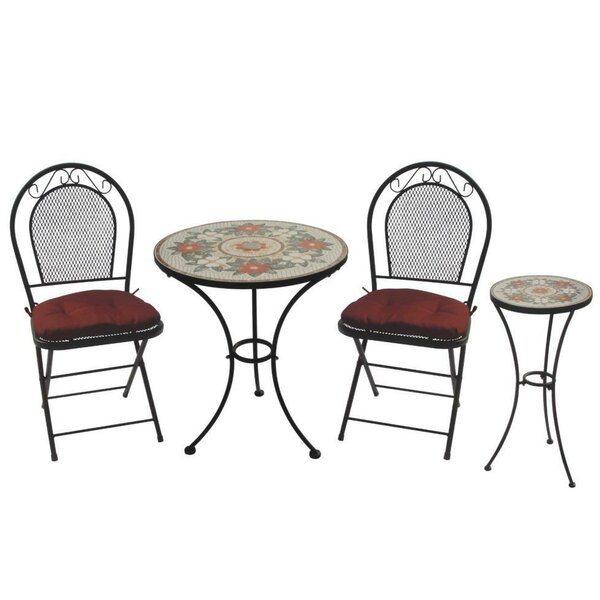 Charleston 3 Piece Bistro Set by DC America