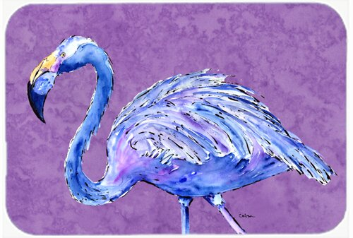Flamingo on Purple Kitchen/Bath Mat by Caroline's Treasures
