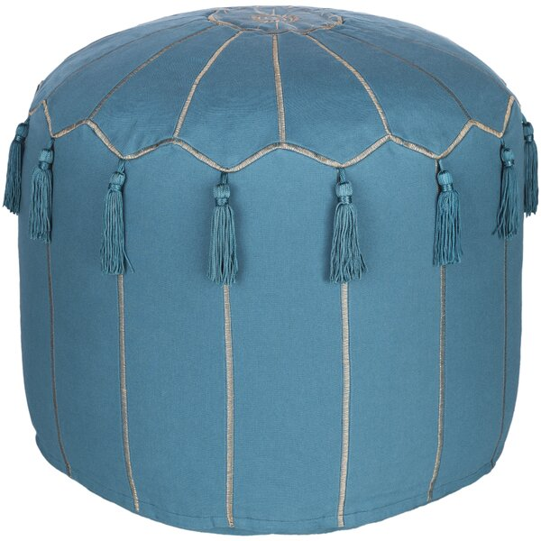 Media Global-Inspired Pouf by Bungalow Rose