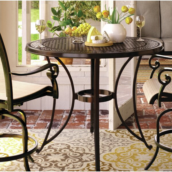 Wydra Metal Bar Table by Darby Home Co