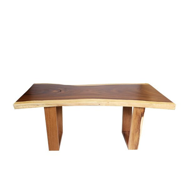 Palacios Live Edge Solid Wood Dining Table by Loon Peak