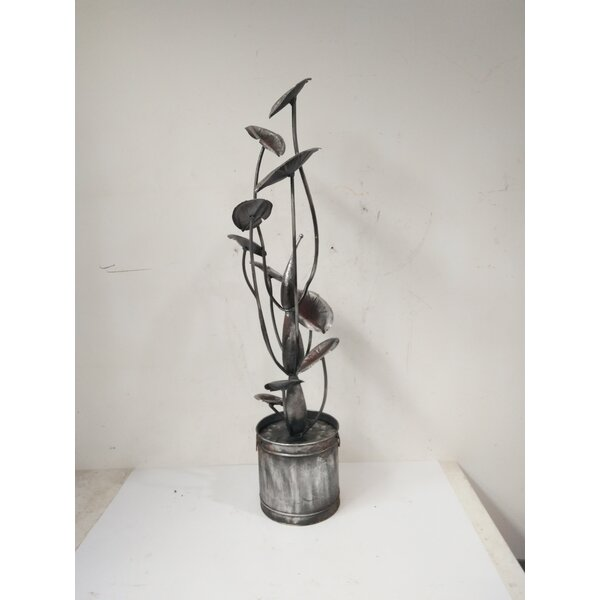 Zinc Metal Calla Lilies Fountain by Hi-Line Gift Ltd.
