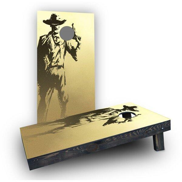 Old Time Gun Holding Cowboy Cornhole Boards (Set of 2) by Custom Cornhole Boards