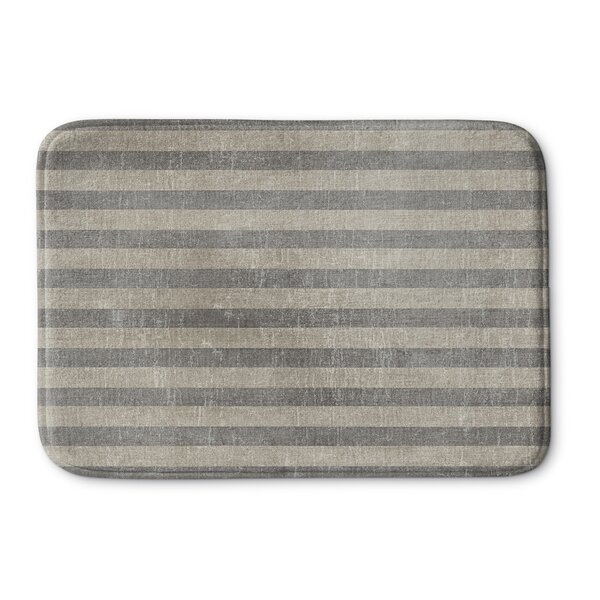 Faded Stripes Memory Foam Bath Rug