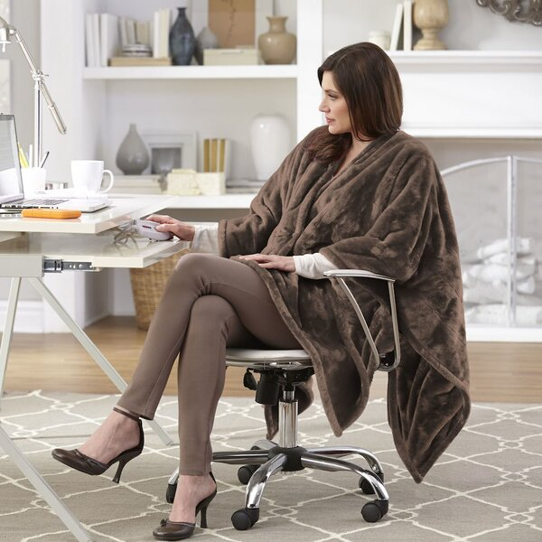 Snuggler Electric Heated Cape and Throw Blanket by Serta