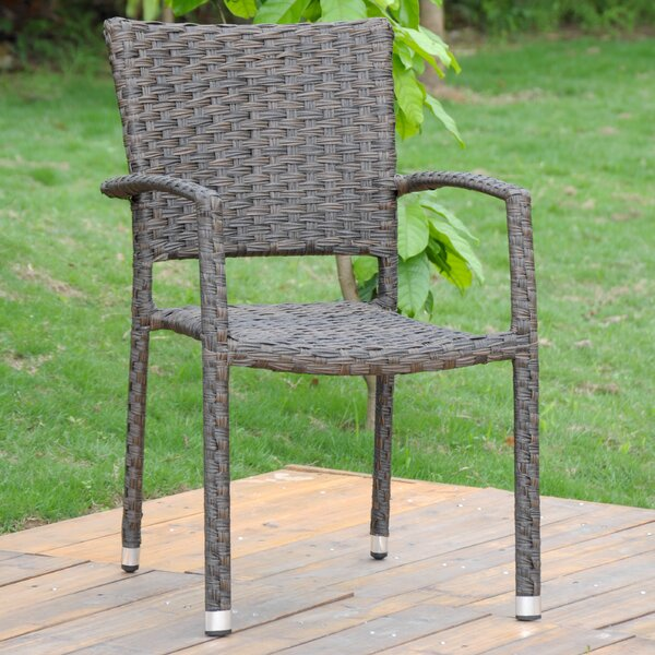 Yonkers Stacking Patio Dining Chair (Set of 4) (Set of 4) by Gracie Oaks