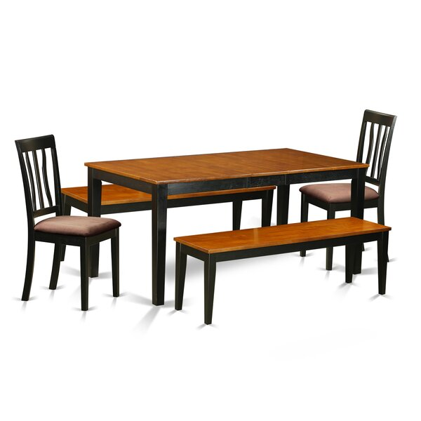 #1 Cleobury 5 Piece Extendable Solid Wood Dining Set By August Grove Great Reviews