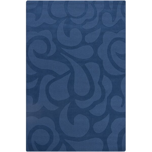 Stehle Blue Floral Area Rug by Latitude Run