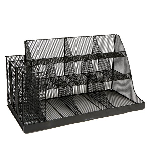 14 Compartment 3 Tier Large Breakroom Condiment Organizer by Mind Reader