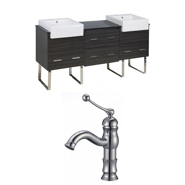Alican 74 Double Bathroom Vanity Set